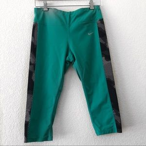 Nike Dri Fit | Turquoise Cropped Leggings